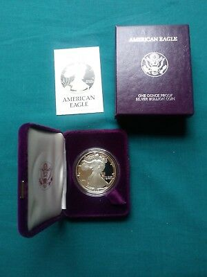 1986 Silver American Eagle Proof  With COA and original US Mint Box #168