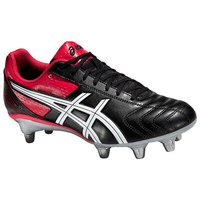 Asics Men's Lethal Tackle Rugby Boots Black Red Rugby RRP £70