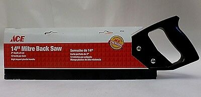 Mitre Back Saw 14 Inch Long 3 Inch Cut Depth Ace Hardware Model 27101 NEW
