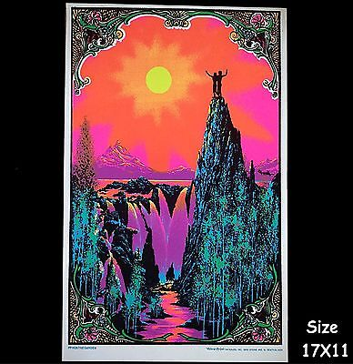 "1968 Vintage Blacklight Poster Love Adam & Eve ""the Garden"" Aa Sales Rare 17X11"