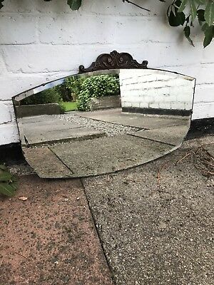 Vintage Beveled Edge Rounded Frameless Mirror Lovely Mirror Art Deco Mirror
