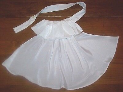 Ladies' Vintage White Collar/Dicky with Ruffled Front Panel(F1)