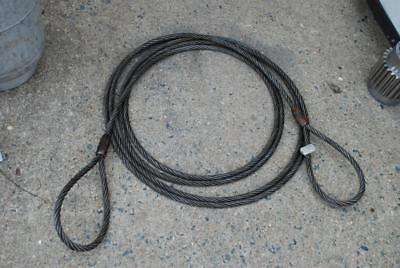 5/8 Wire Rope Sling 30 Feet Eye To Eye Swl 7800 New Mil Surplus