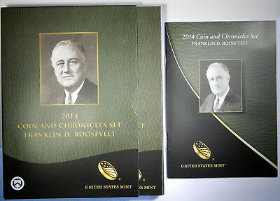 2014 Fdr Roosevelt Coin & Chronicles Comm. Set ~ Nice Orig. Mint Packaging!