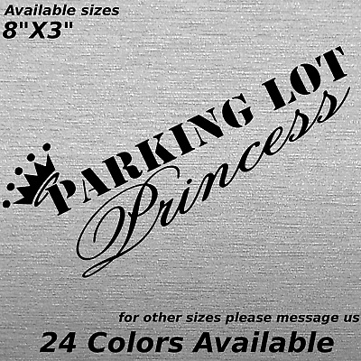 Parking lot princess decal sticker crown jeep mall crawler truck ford dodge