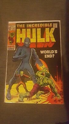 The Incredible Hulk #117 Vf 1969 Marvel Comics Silver Age Bagged And Boarded