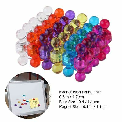 60pcs Acrylic Magnetic Push Pin Set for Maps Calendar Whiteboard Refrigerator AU