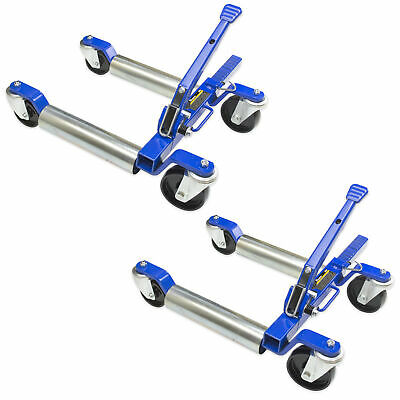 "Jackco 1500 LB 12.5"" Wheel Car Positioning Dolly with Ratcheting Pedal (2 Pack)"
