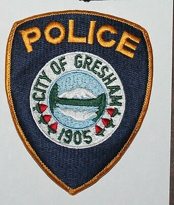 CITY OF GRESHAM POLICE DEPT Oregon OR PD Used Worn patch
