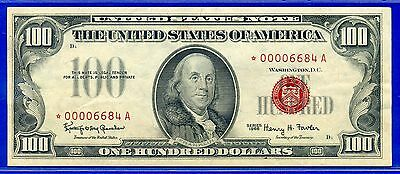 1966 $100 US Note (( STAR )) 4-Digit # *00006684A