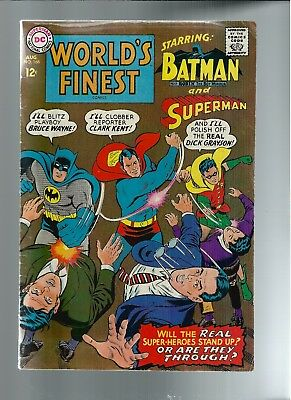 World's Finest Comics #168 (Aug 1967, DC) VG/FN 5.0 Composite Superman App