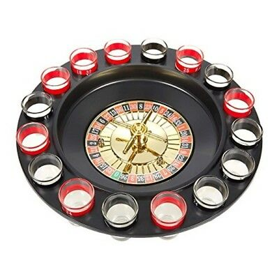 Juvale Roulette Drinking Game - Shot Glass Roulette Set Includes Roulette Wheel,