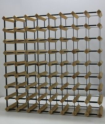72 Bottle Timber Wine Rack - NATURAL PINE - DIY Kit