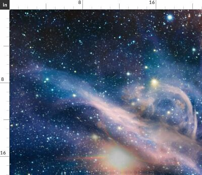 Nebula Galaxy Carina Nebula Outer Space Fabric Printed by Spoonflower BTY