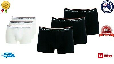 Tommy Hilfiger Men's 3 Pack Premium Essentials Trunks Black And White Color Pack