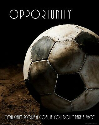 Soccer Motivational Poster Art Print Opportunity College Classroom Sports MVP614