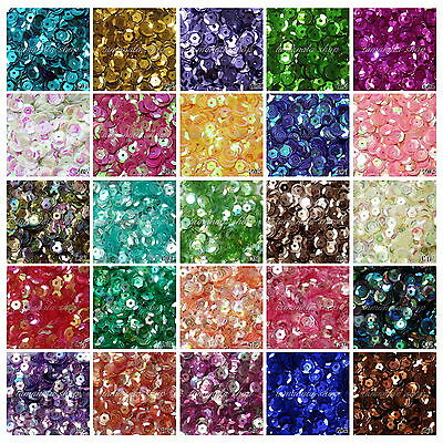 2000PCS Round Cuppy Loose 6mm Sequin Paillette DIY Craft Sewing Clothing Decor