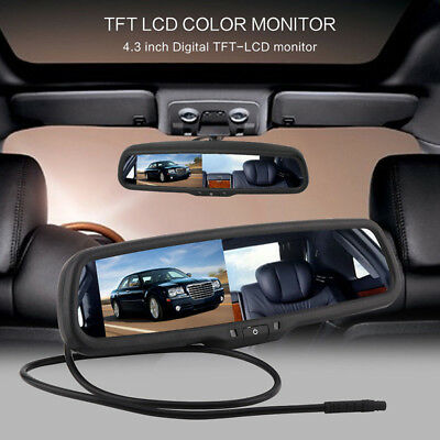 """4.3"""" TFT LCD Auto Dimming Car Rear View Mirror Monitor Built-in Special Bracket"""