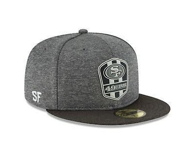 e6d4153ddd477d San Francisco 49ers New Era 2018 NFL Sideline Road Black 59FIFTY Fitted Hat