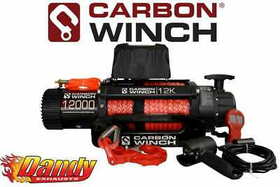 CARBON WINCH 12K 12000lb ELECTRIC WITH SYNTHETIC ROPE