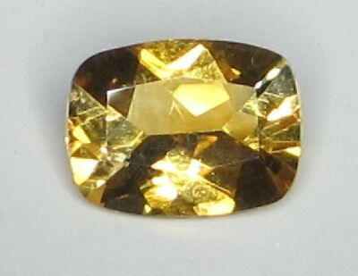 Natural Citrine 1.62 Carat 9x7 mm Emerald Cushion Facet Cut Top Color Gemstone