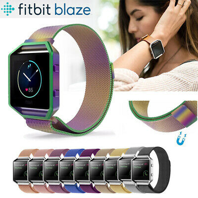 Magnetic Stainless steel Milanese Loop Watch Wrist band Strap For Fitbit Blaze
