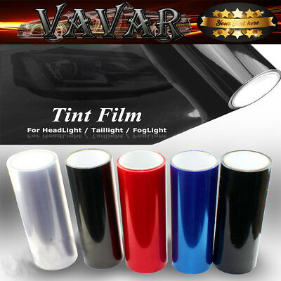 "Dark Black 12""x48"" Headlight Taillight Fog Light Tint Vinyl Film Roll Sticker"