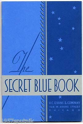 H.C. Evans 1932 The Secret Blue Book 1978 Reprint Catalog-Slots Gambling Supply