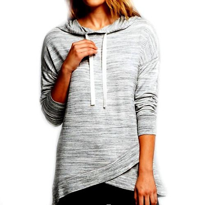 Women's Gray Space French Terry Hooded XL Pullover Shirt - Gilligan & O'Malley