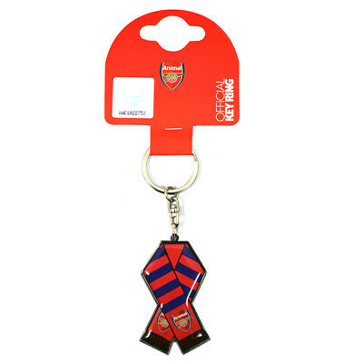 Arsenal FC Official Metal Scarf Keyring Brand New