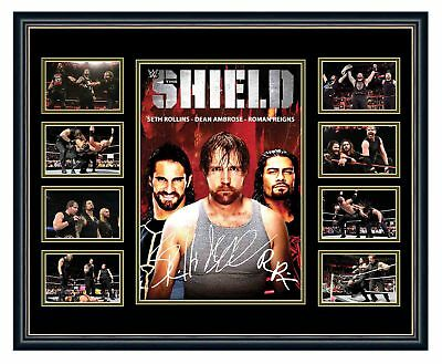 Wwe The Shield Reigns Rollins Ambrose Signed Limited Edition Framed Memorabilia