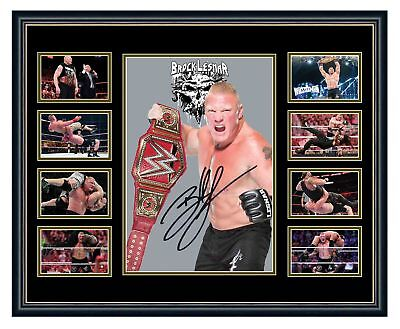 Wwe Brock Lesnar Signed Limited Edition Framed Memorabilia