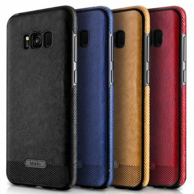 For Samsung Models Ultra Thin Shockproof PU Leather Phone Case TPU Back Cover