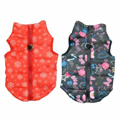 Pet Puppy Dog Zipper Padded Coat Jacket Vest Harness Soft Warm Clothes Custumes