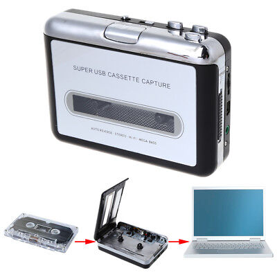 Portable USB Audio Recorders Cassette Tapes Converter To MP3 Player Computer