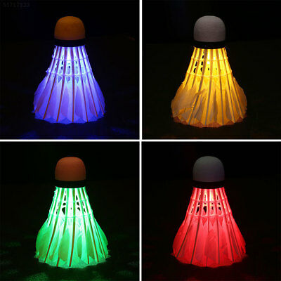14A3 FB8D 4Pcs LED Lighting Badminton Colorful Shuttlecock Outdoor/Indoor Sports