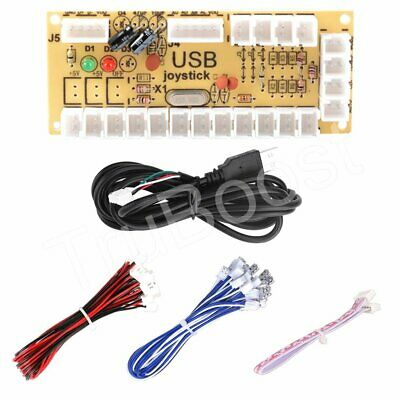 Zero Delay Arcade USB Encoder PC to Joystick Button DIY Kit For MAME Fight Stick