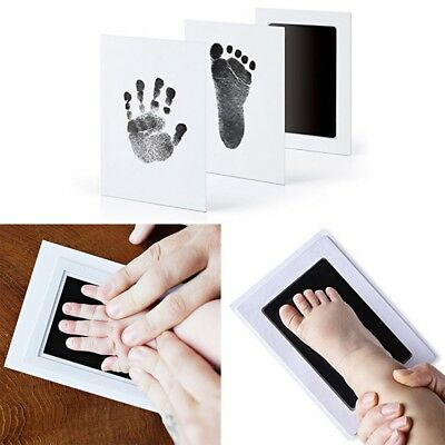 Baby Inkless Touch Footprint Handprint Ink Pad Non Toxic Mess UK Commemorate