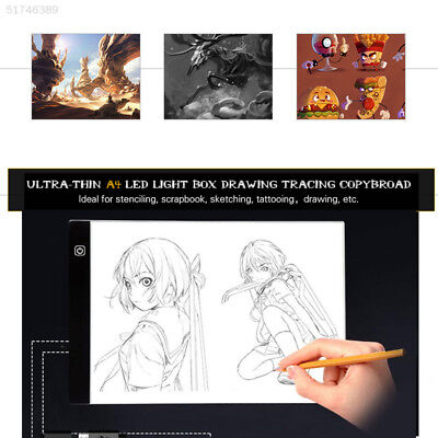 4385 22EE Thin  A4 LED Copy Art Board Craft Tracing Drawing Tblet Pad Light Box