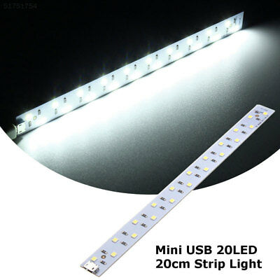 B55C F4E6 White Mini DC5V 20CM LED Light Light Bar Portable Lamp Rechargeable
