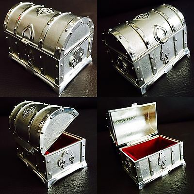 Superb Antique Art Deco English Silver Plated Engagement/Wedding Ring Box (190g)