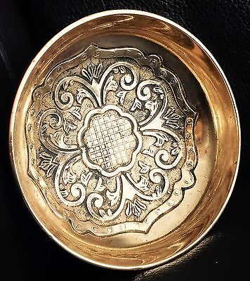 Antique Heavy & Intricate Victorian Handmade Brass Bowl / Bonbon Dish / Ashtray