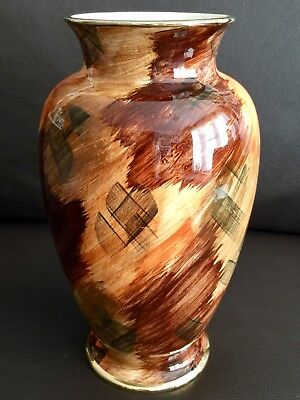"Rare Art Deco Hand Painted ""J Fryer"" Old Courtware 10""/26cm Lustre Ware Vase"
