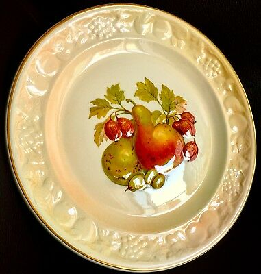 "Vintage Royal Worcester Palissy Royale Crown Ware 9""/23cm Wall Plate ""Fruit"""