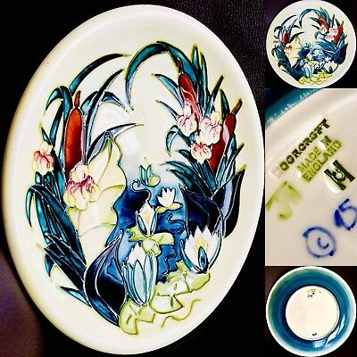 """Collector's Vintage (1980s) Moorcroft Pottery """"Lamia"""" 10""""/26cm Wall Plate"""