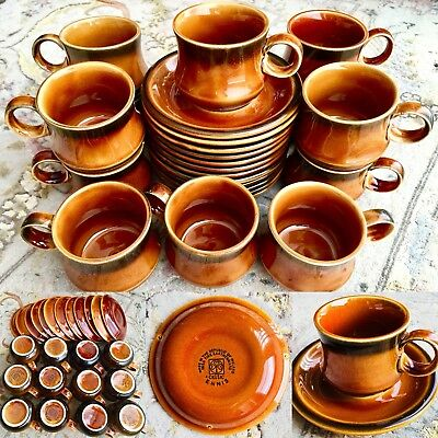 "Rare 24 Piece Irish Fine Earthenware Celtic ""Ennis"" (Kilrush Pottery) Coffee Set"