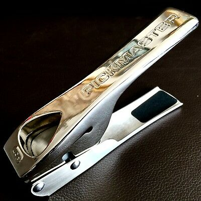 "Superb Quality Heavy English Stainless Steel ""Slam"" Pickmaster Plectron Punch"