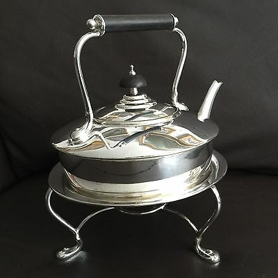 Antique Victorian 1884 Silver Plated Teapot & Stand By Adie Brothers Birmingham
