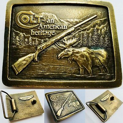 Original Colt An American Heritage Bronze Belt Buckle By Indiana Metal Craft