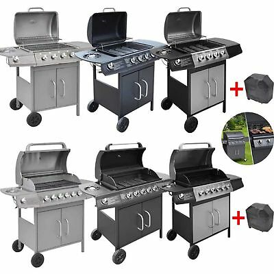 Gas Barbecue BBQ Grill 4+1/6+1 Side Burners CosmoGrill Cooking Outdoor Garden UK